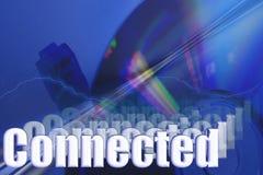 Illustrazione connessa della rete 3D Fotografia Stock Libera da Diritti