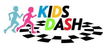 Illustrazione corrente di evento della corsa del un poco dei bambini Immagini Stock Libere da Diritti