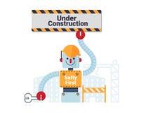 Illustrazione in costruzione di vettore di concetto Fotografia Stock Libera da Diritti