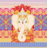 Illustrazione creativa di Lord Ganesha indù Fotografia Stock Libera da Diritti