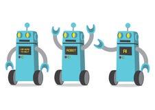 Illustrazione creativa di vettore del fumetto del robot su backgroun bianco illustrazione di stock