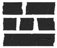 Illustrazione creativa di vettore del nastro adesivo d'isolamento della condotta isolata su fondo trasparente Colla appiccicosa d illustrazione di stock