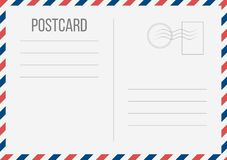Illustrazione creativa di vettore della cartolina isolata su fondo trasparente Progettazione postale di arte della carta di viagg illustrazione vettoriale