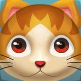 Illustrazione creativa ed arte innovatrice: Cat Face Icon Fotografie Stock Libere da Diritti