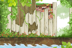 Illustrazione creativa ed arte innovatrice: La primavera viene Immagini Stock Libere da Diritti
