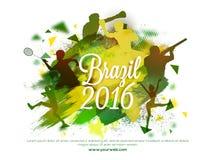 Illustrazione creativa per i giochi 2016 di estate del Brasile Fotografia Stock Libera da Diritti