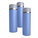Illustrazione crema blu dei tubi 3D illustrazione vettoriale