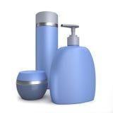 Illustrazione crema blu dei tubi 3D illustrazione di stock