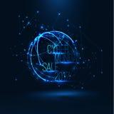 Illustrazione cyber 2017 di vendita di lunedì Grande vendita globale Fotografia Stock