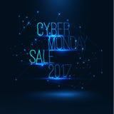 Illustrazione cyber 2017 di vendita di lunedì Grande vendita globale Immagine Stock