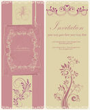 Illustrazione d'annata con i fiori e la struttura Fotografia Stock
