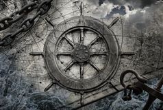 Illustrazione d'annata del fondo di navigazione Immagini Stock