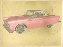 Illustrazione d'annata del manifesto dell'automobile classica Immagini Stock