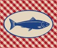 Illustrazione d'annata del salmone Fotografia Stock Libera da Diritti