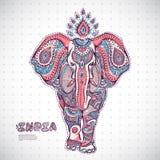 Illustrazione d'annata dell'elefante Immagine Stock Libera da Diritti