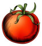 Illustrazione d'annata dell'intaglio in legno del pomodoro Immagini Stock