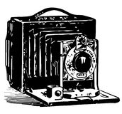 Illustrazione d'annata della macchina fotografica Fotografia Stock Libera da Diritti
