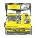 Illustrazione d'annata di arte del film della macchina fotografica istantanea Fotografia Stock Libera da Diritti