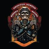 Illustrazione d'annata di logo del motociclo royalty illustrazione gratis
