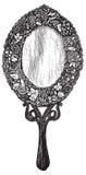Illustrazione d'annata di vettore dello specchio royalty illustrazione gratis