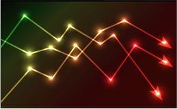 Illustrazione d'ardore di vettore delle frecce del grafico Immagini Stock Libere da Diritti