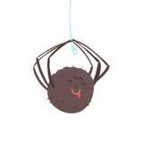 Illustrazione d'attaccatura di vettore del carattere del ragno del fumetto sveglio royalty illustrazione gratis