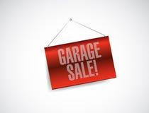 Illustrazione d'attaccatura rossa dell'insegna di vendita di garage Fotografie Stock