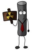 Illustrazione d'avvertimento della particella radioattiva Immagini Stock Libere da Diritti