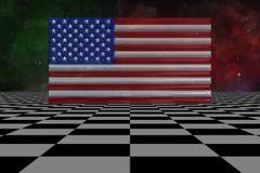 illustrazione 3D: Bandiera di U.S.A. ai punti Immagini Stock