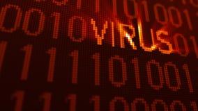 illustrazione 3d con il concetto del virus informatico Fotografie Stock Libere da Diritti
