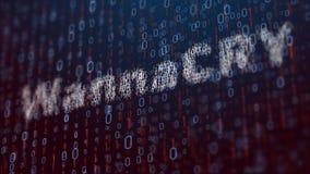 illustrazione 3d con il concetto del virus informatico Wannacry Immagini Stock