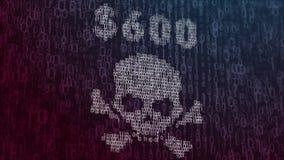 illustrazione 3d con il concetto del virus informatico Wannacry Fotografia Stock