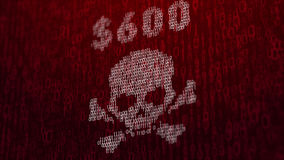 illustrazione 3d con il concetto del virus informatico Wannacry Fotografie Stock