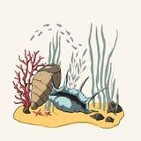illustrazione 3D Coral Reef illustrazione di stock