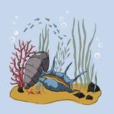 illustrazione 3D Coral Reef illustrazione vettoriale