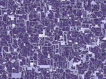 illustrazione 3D dei circuiti ultravioletti di web fotografia stock