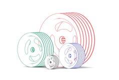 illustrazione 3d dei covoni di colore Fotografia Stock