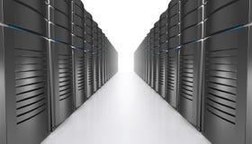 illustrazione 3D dei server della stazione di lavoro della rete Fotografie Stock Libere da Diritti