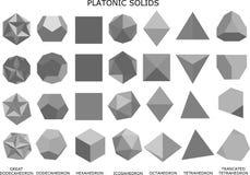 illustrazione 3d dei solidi platonici Illustrazione Vettoriale