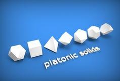 illustrazione 3d dei solidi platonici Illustrazione di Stock