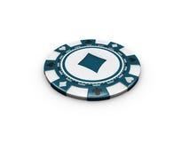 illustrazione 3d del chip isolata su fondo bianco Fotografie Stock Libere da Diritti