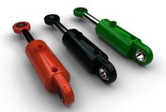 illustrazione 3d del cilindro idraulico illustrazione di stock
