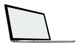 illustrazione 3D del computer portatile d'argento isolata su bianco illustrazione di stock