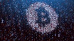 illustrazione 3d del concetto del bitcoin Immagini Stock Libere da Diritti