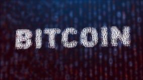 illustrazione 3d del concetto del bitcoin Immagine Stock Libera da Diritti