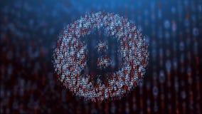 illustrazione 3d del concetto del bitcoin Fotografie Stock Libere da Diritti