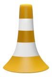 illustrazione 3D del cono di traffico con le bande bianche Fotografia Stock Libera da Diritti