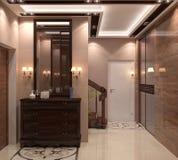 illustrazione 3D del corridoio Immagini Stock Libere da Diritti