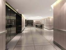 illustrazione 3d del corridoio dell'hotel Immagini Stock Libere da Diritti