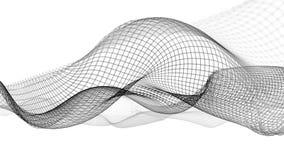 illustrazione 3d del fondo scientifico della struttura astratta dell'onda Immagini Stock